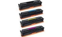 Sæt (4 stk.) af CC 530/718BK, 531/718C, 532/718M, 533/718Y, kompatible tonere