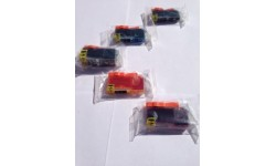Storkøb - 3 Sæt PGI 520 BK, CLI 521 BK,C,M,Y, m/chip, kompatible patroner, 15 stk.