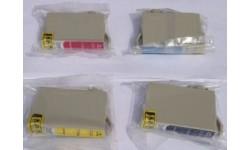 Sæt (4 stk.) TO711 - 14, BK,C,M,Y, kompatible patroner