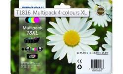 Epson T1816 Multipak (4 farver), originale patroner